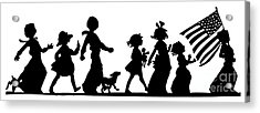 4th Of July Childrens Parade Panorama Acrylic Print