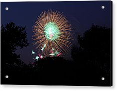 4th Of July Fireworks - 01134 Acrylic Print