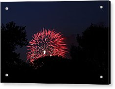 4th Of July Fireworks - 01136 Acrylic Print