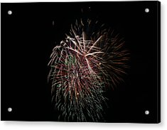 4th Of July Fireworks Acrylic Print by Alan Hutchins