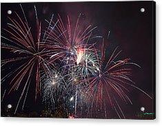 4th Of July Fireworks Portland Oregon 2013 Acrylic Print