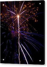 4th Of July Fireworks Acrylic Print by Ray Devlin