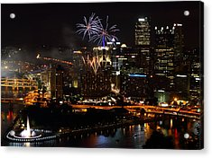 4th Of July Firworks In Pittsburgh Acrylic Print