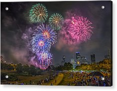 4th Of July In Houston Texas Acrylic Print by Micah Goff