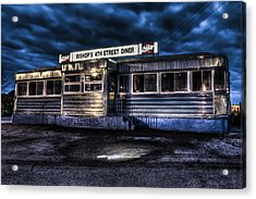 4th Street Diner Acrylic Print by Andrew Pacheco