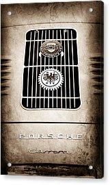 1960 Volkswagen Vw Porsche 356 Carrera Gs Gt Replica Emblem Acrylic Print by Jill Reger