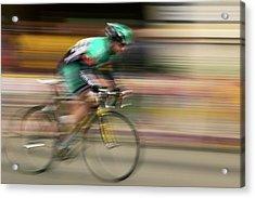 Amateur Men Bicyclists Competing Acrylic Print