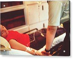 Ambulance Treatment Acrylic Print by Annabella Bluesky/science Photo Library
