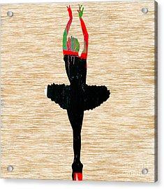 Ballerina Acrylic Print by Marvin Blaine