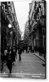 Barcelona - Urban Scene Acrylic Print by Andrea Mazzocchetti
