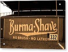 Baseball Field Burma Shave Sign Acrylic Print by Frank Romeo