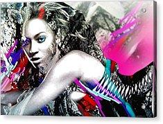 Beyonce Acrylic Print by Bogdan Floridana Oana