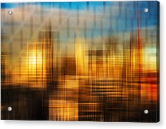 Blurred Abstract Colorful Background Acrylic Print by Matthew Gibson