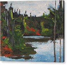 By The Pond Acrylic Print by Francois Fournier