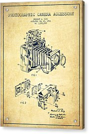 Camera Patent Drawing From 1963 Acrylic Print