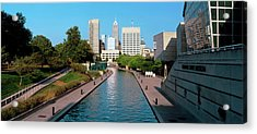 Canal In A City, Indianapolis Canal Acrylic Print by Panoramic Images