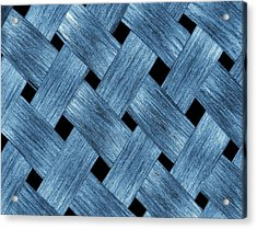 Carbon Fibre Fabric Acrylic Print by Alfred Pasieka