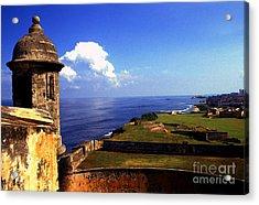 Castillo De San Cristobal Acrylic Print by Thomas R Fletcher