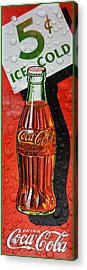5 Cent Coca-cola From 1886 - 1959 Acrylic Print