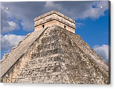 Chichen Itza Modern Seven Wonders Of The World In Mexico Acrylic Print