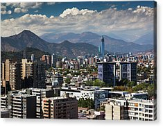 Chile, Santiago, City View Acrylic Print by Walter Bibikow
