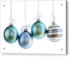 Christmas Ornaments Acrylic Print by Elena Elisseeva