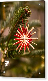 Acrylic Print featuring the photograph Christmas Tree Ornaments by Alex Grichenko