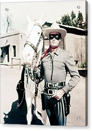 Clayton Moore In The Lone Ranger  Acrylic Print by Silver Screen