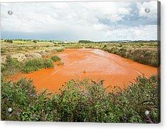 Contaminated Mine Effluent Acrylic Print by Ashley Cooper