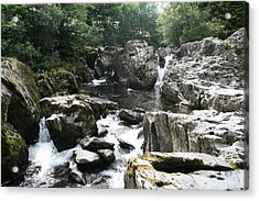 Conwy River Near Betws Y Coed.  Acrylic Print by Christopher Rowlands