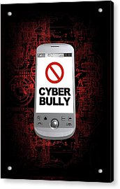 Cyber Bullying Acrylic Print by Victor Habbick Visions/science Photo Library