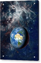 Earth From Space Acrylic Print by Detlev Van Ravenswaay