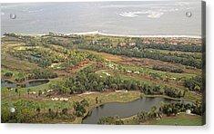 East Coast Aerial Near Jekyll Island Acrylic Print by Betsy Knapp