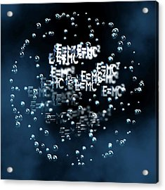 Einstein's Mass-energy Equation Acrylic Print by Ventris / Science Photo Library