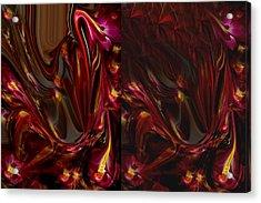 Flowers Acrylic Print by HollyWood Creation By linda zanini