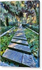 Footpath Acrylic Print by George Atsametakis