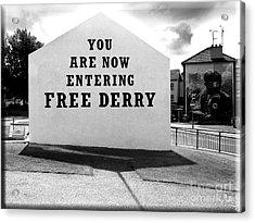 Free Derry Corner 5 Acrylic Print