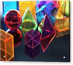 Geometric Shapes Acrylic Print by Tek Image