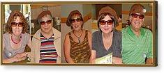 5 Hats Acrylic Print by Sanford