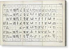 Hieroglyphics Research Acrylic Print