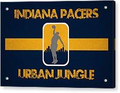 Indiana Pacers Acrylic Print by Joe Hamilton