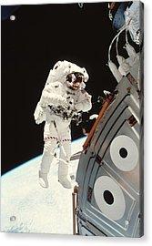 Iss Space Walk Acrylic Print