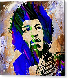 Jimi Hendrix Collection Acrylic Print by Marvin Blaine