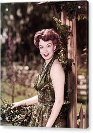 Joan Evans Acrylic Print by Silver Screen