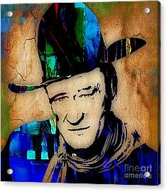 John Wayne Collection Acrylic Print by Marvin Blaine