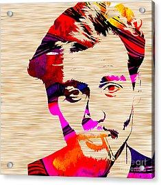 Johnny Depp Acrylic Print by Marvin Blaine