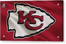 Kansas City Chiefs Uniform Acrylic Print by Joe Hamilton