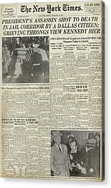 Kennedy Assassination, 1963 Acrylic Print by Granger
