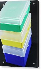 Laboratory Storage Boxes Acrylic Print
