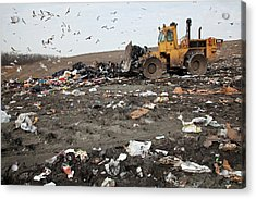 Landfill Site Acrylic Print by Jim West